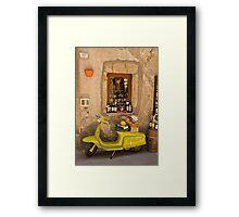 La mia Lambretta Framed Print