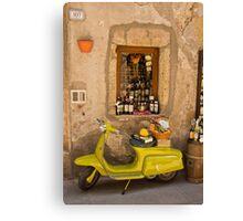 La mia Lambretta Canvas Print