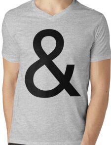 Ampersand (Helvetica) Mens V-Neck T-Shirt
