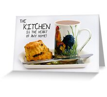 Kitchen saying note card with Afternoon Tea and scone Greeting Card