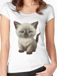Cataclysm- Siamese Kitten Classic Women's Fitted Scoop T-Shirt