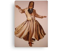 The Remembrance of Allah - A Sufi Whirling Dervish Canvas Print