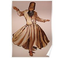 The Remembrance of Allah - A Sufi Whirling Dervish Poster