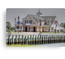 Beach house-full view Canvas Print
