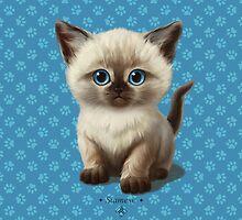 Cataclysm: Siamese Kitten Paws by Iker Paz Studio