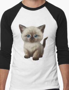 Cataclysm: Siamese Kitten Paws Men's Baseball ¾ T-Shirt