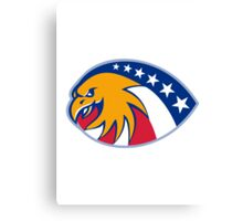 american eagle head stars and stripes flag Canvas Print