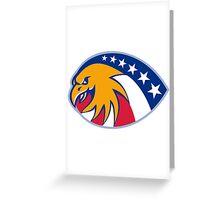 american eagle head stars and stripes flag Greeting Card