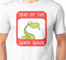 Year of The Snake 2001 T-Shirt Unisex T-Shirt
