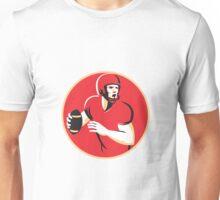 american quarterback football player passing circle Unisex T-Shirt