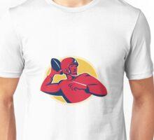 american quarterback football player passing Unisex T-Shirt