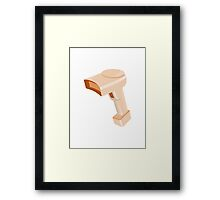 barcode scanner reader retro Framed Print