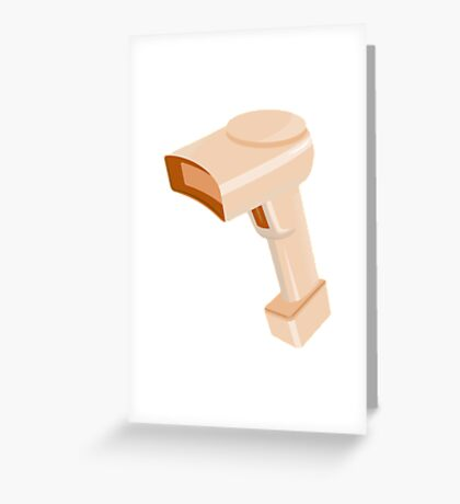 barcode scanner reader retro Greeting Card