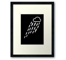 It's raining gentlemen... Hallelujah! Framed Print