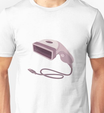 barcode scanner reader usb cable Unisex T-Shirt