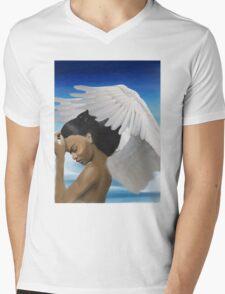 Epica the Angel Mens V-Neck T-Shirt