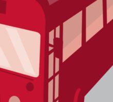 vintage shuttle bus coach retro Sticker