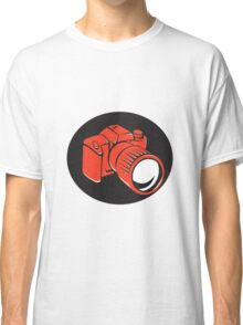 DSLR digital camera front retro Classic T-Shirt