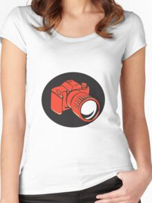 DSLR digital camera front retro Women's Fitted Scoop T-Shirt