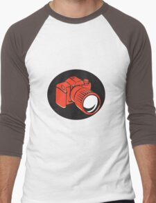 DSLR digital camera front retro Men's Baseball ¾ T-Shirt