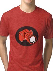 DSLR digital camera front retro Tri-blend T-Shirt