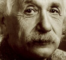 Albert, Einstein, Portrait, signature, Physicist, Genius, mathematician Sticker