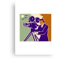 Cameraman Film Crew Vintage Video Movie Camera Canvas Print
