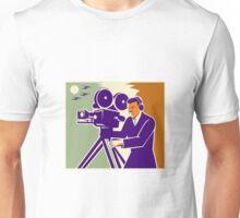 Cameraman Film Crew Vintage Video Movie Camera Unisex T-Shirt