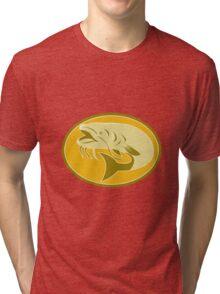 catfish fish retro Tri-blend T-Shirt