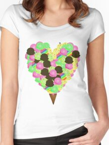 ice cream lover Women's Fitted Scoop T-Shirt