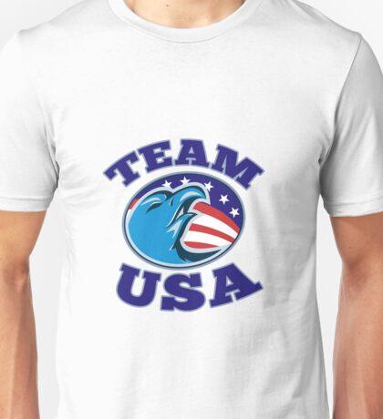 team USA bald eagle american stars and stripes flag  Unisex T-Shirt