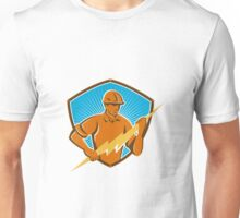 Electrician Construction Worker Retro  Unisex T-Shirt