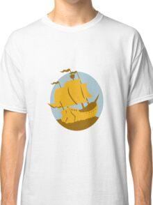 sailing ship galleon retro Classic T-Shirt