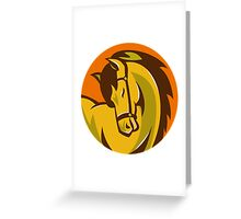 horse stallion head retro Greeting Card