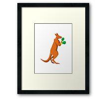 kangaroo boxer boxing retro Framed Print
