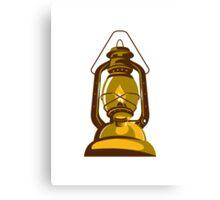kerosene oil lamp retro Canvas Print