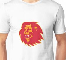 angry lion head roaring Unisex T-Shirt