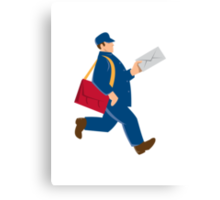 mailman postal worker delivery man Canvas Print