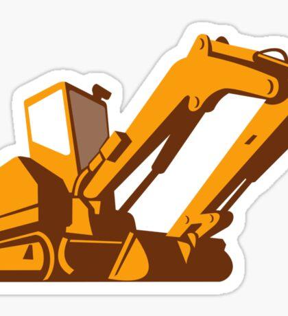bulldozer front retro Sticker