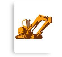 bulldozer front retro Canvas Print