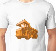 mining truck low angle retro style Unisex T-Shirt