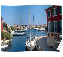 Yachts at Harbour  Poster