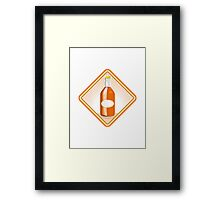 orange soda bottle sunburst retro Framed Print