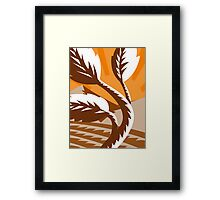growing plant leaf field mountains Framed Print