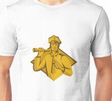 policeman police officer flashlight Unisex T-Shirt