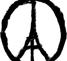 EIFFEL TOWER PEACE SIGN PRAY FOR PARIS by PrettyStuff