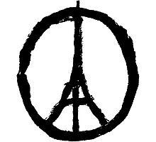 EIFFEL TOWER PEACE SIGN PRAY FOR PARIS Photographic Print