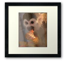 monkey vector Framed Print