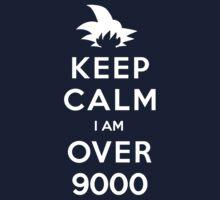 Keep Calm I am Over 9000 Kids Clothes