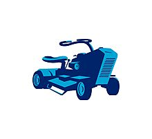 vintage ride on lawn mower retro Photographic Print